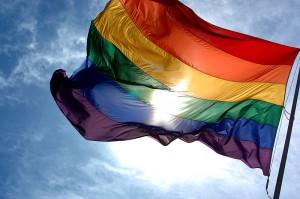 Rainbow flag Pride month in June